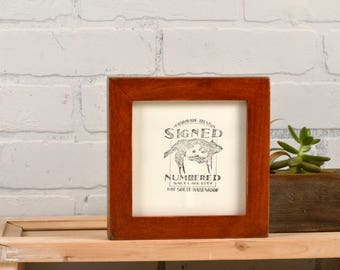 5x5 inch Square Picture Frame in 1x1 Flat Style with Vintage Wood Tone Finish - IN STOCK - Same Day Shipping - 5 x 5 Photo Frame