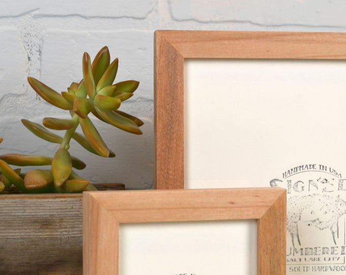 BASIC Picture Frame - Natural WILLOW Solid Hardwood Gallery Wall Frames - Choose medium size 8x8, 7x9, 8x10, 9x9, 8x12, 8.5x11, A4 8.3x11.7""
