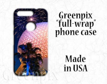 Disney Google Pixel phone case, Pixel XL phone case, Spaceship Earth phone case, fireworks phone case, EPCOT phone case, Disneyworld photo