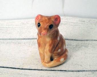 Miniature Quoll Figurine porcelain ceramic animal figurine by AnitaReayArt / ceramic animal totem