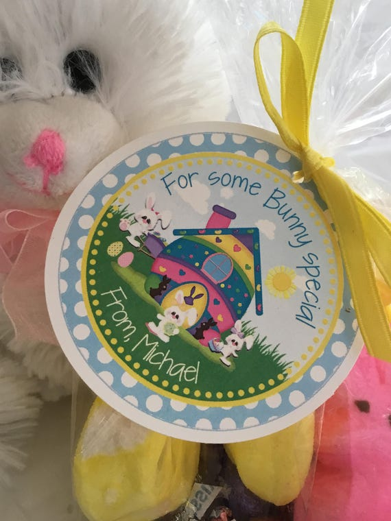 Easter gift tag some bunny special easter bunny kids easter like this item negle Image collections