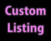 Custom listing for Patricia