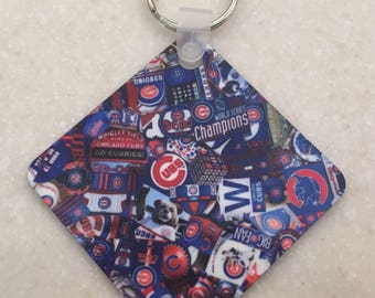 Chicago Cubs World Series Champs Key Chain
