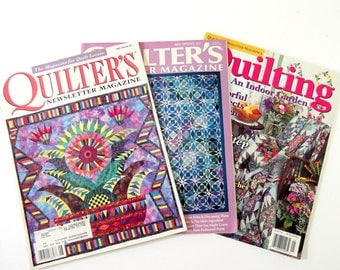 3 Quilter's Newsletter Magazines