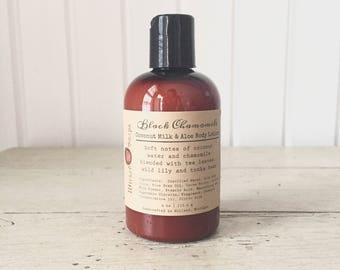 Black Chamomile Body Lotion - Coconut Milk & Aloe Body Lotion with Cocoa Butter