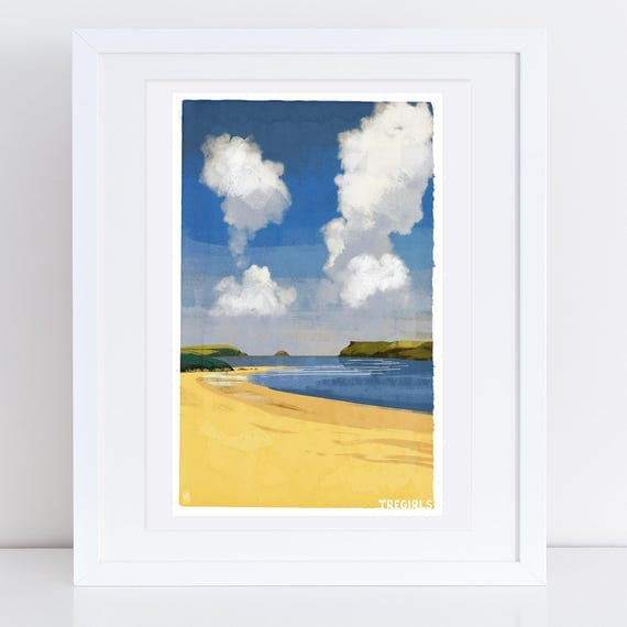 Tregirls - Signed Cornish Coasts Giclee Print