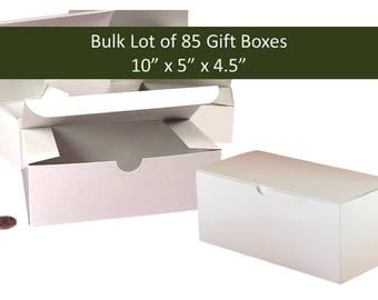 Bulk Lot 85 White Favor Gift Boxes 10 x 5 inches - 85x Wedding Favors Gift Boxes Christmas Party Favor Gift Boxes