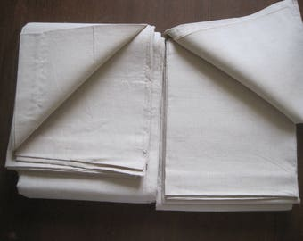 Pair of superb unused French linen, hemp sheets.  Excellent fabric for projects; upholstery, curtains, home interiors.