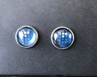 Dr. Who Tardis Stud Earrings
