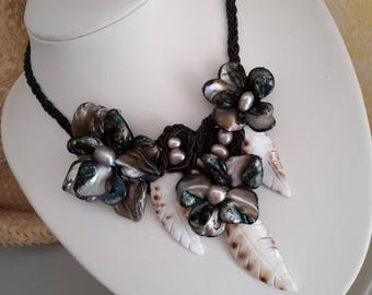 Pearl Necklace and beads, shells