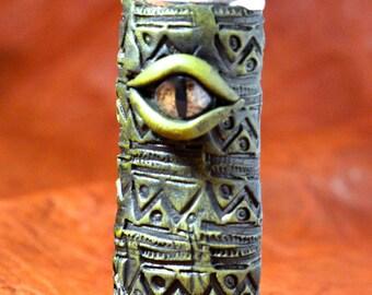 Golden Dragon Eye Lighter Cover Cigarette Lighter Case Made in NYC