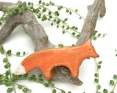 fox waldorf toy , wooden fox toy, fox figurine, wooden waldorf toys, wood toy