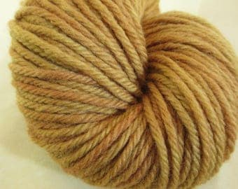 Natural Dye Bulky Yarn - Hand-Dyed with Staghorn Sumac Bark - - 100% Wool - Tonal - YAB101745 - 100 grams