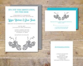 Motorcycle Wedding Invitations, Motorcycles,  Wedding Invites,  Modern Wedding, Wedding Invitations, Invitations, Unique Wedding Invitations