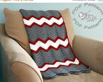 Pattern of the Month Instant download, Crochet afghan pattern, chevron blanket pattern, crochet throw patten, easy baby blanket pattern, per