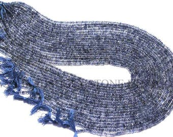14 Inch Iolite Beads In Rondelle Faceted (Micro) Shape (Quality AAA), 2.3 to 2.8, IO-012, Semiprecious Gemstone Beads, Craft Supplies