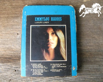 EMMYLOU HARRIS Luxury Liner 8-Track - As Is, Needs Repair - 1977 Eight Track Stereo Tape Cartridge, Vintage Country Western Music Emmy Lou