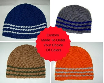 Men's Beanie Cap Custom Made Your Choice Of Color Made To Order Beanie