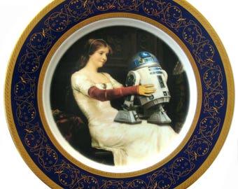 """R2-D2 Renaissance Portrait Plate 10.25"""""""