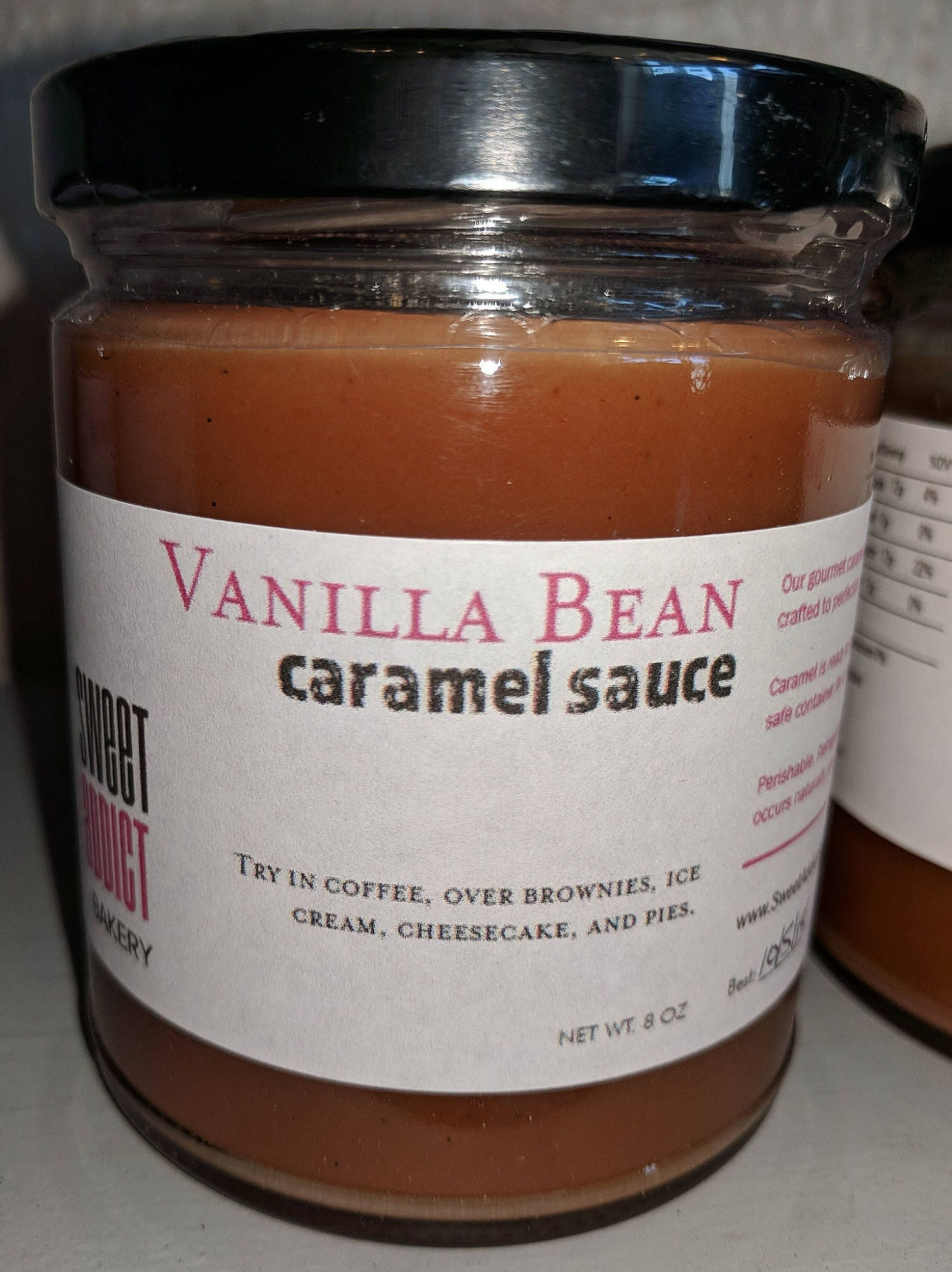 VANILLA BEAN Caramel Sauce Great for fruit coffee ice