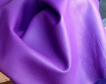 6-899.  Purple Italian Leather Cowhide Partials