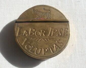 Vintage Brass Trinket Box