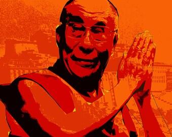 His Holiness the Dalai Lama Pop Art #2