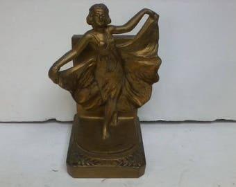 Rare Art Deco Nouveau 1920's Bronze Lady Dancer Loie Fuller