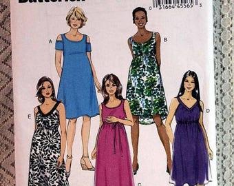 ON SALE Butterick 6068, Misses' Maternity Dress Sewing Pattern, Easy Maternity Dress Pattern, Misses' Patterns, Misses' Size 14 - 22, Uncut
