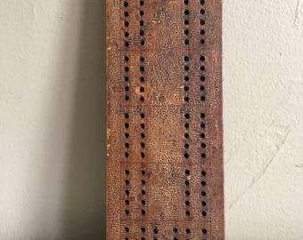Very Old Wooden Vintage Cribbage Board