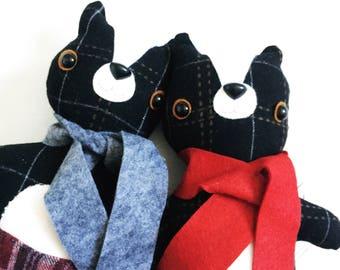 Skunk Animalpants in Gray Scarf  - READY TO SHIP