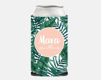 Leaf Wedding Party Gifts Bridesmaid Gift Ideas Wedding Party Favors Can Cooler Bachelorette Party Favors Can Hugger Tropical Leaf YZ