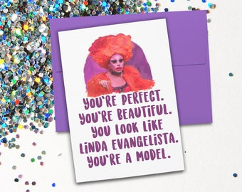 RuPaul Drag Race Aja Valentina Card- birthday, special occasion blank card