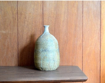 SALE 25% OFF vintage large mid century studio pottery vase