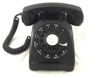 Black Rotary Telephone, Untested Vintage Dial Phone