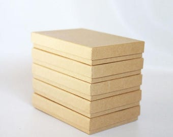 """ON SALE 10- Kraft  Boxes filled with cotton  7-1/8"""" x 5-1/8"""" x 1-1/8""""H   Works great for photography presentation"""