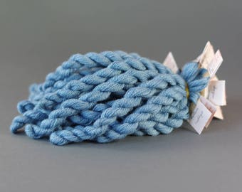 Hand-dyed embroidery yarn,  natural dyes, wool, silk, cashmere thread, embroidery floss, 20m, INDIGO, blue color 283