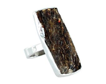 BRONZITE Ring Sterling Silver Drusy Size 7 New World Gems