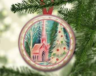 "3.5"" holiday ornaments for tree - vintage christmas tree decoration - holiday refrigerator magnets for the kitchen - kitchen decor ORN-49"