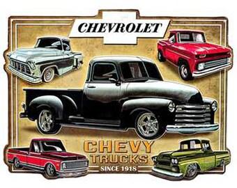 METAL SIGN Chevy Trucks