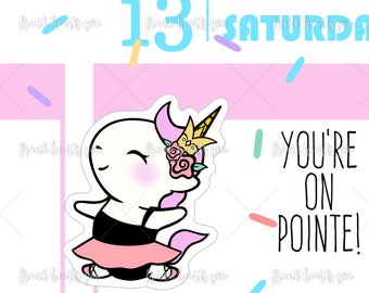 You're On Pointe - Sprinkles Ballet/Dance Planner Stickers