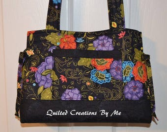 Quilted Purse Bag Quilted Handbag Quilted Tote Bag Bow Style Bag  Handbag Purse Tote Bag  Custom Made for You