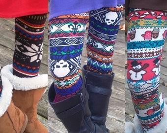 5 leggings for 10 dollars - Girls leggings - multiple prints - fits girls 4 yr old to 6 yr old