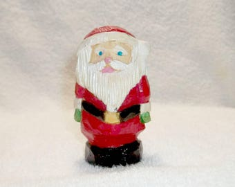 Santa Claus, Full Figure, Hand Carved and Hand Painted Wooden