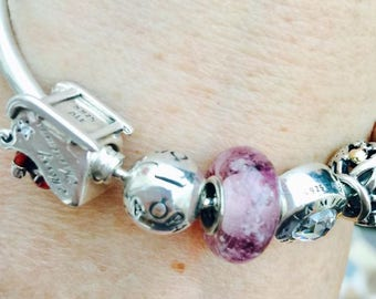 Precious Ashes Pet Cremation Jewellery - Pandora Style Silver Lined Bead