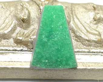 Variscite Cabochon RARE Drusy Crystals Lucin Utah USA Utahlite Lucinite Green Mint crandallite Handmade One of a Kind