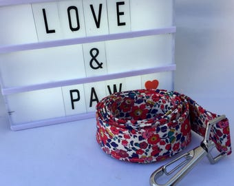 Liberty of London fabric dog leash/lead