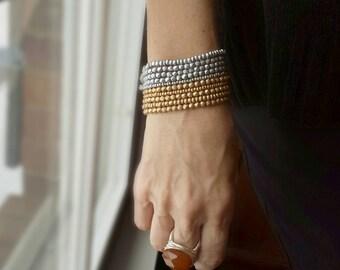 Liquid Metal Stack Bracelets - Silver or Gold or Both
