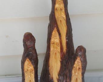 The Commitee Multiple Wood Spirit Santa Carving
