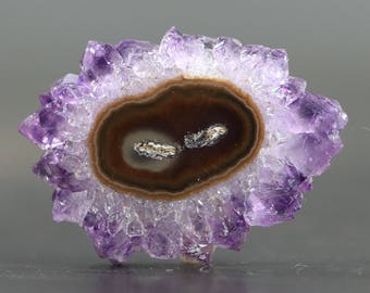 Amethyst Slice Stalactite Flower Raw Healing Stone Polished Gemstone February Birthstone (20799)
